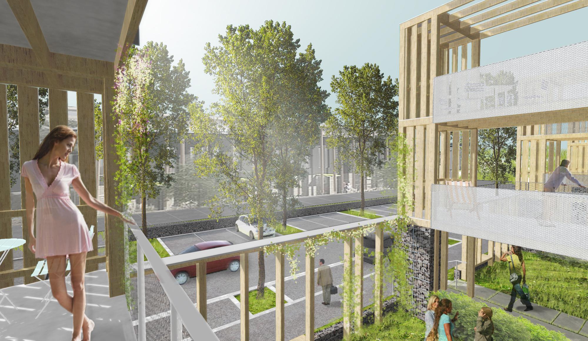 28 logements en accession sociale obernai ixo architecture for Maison accession sociale